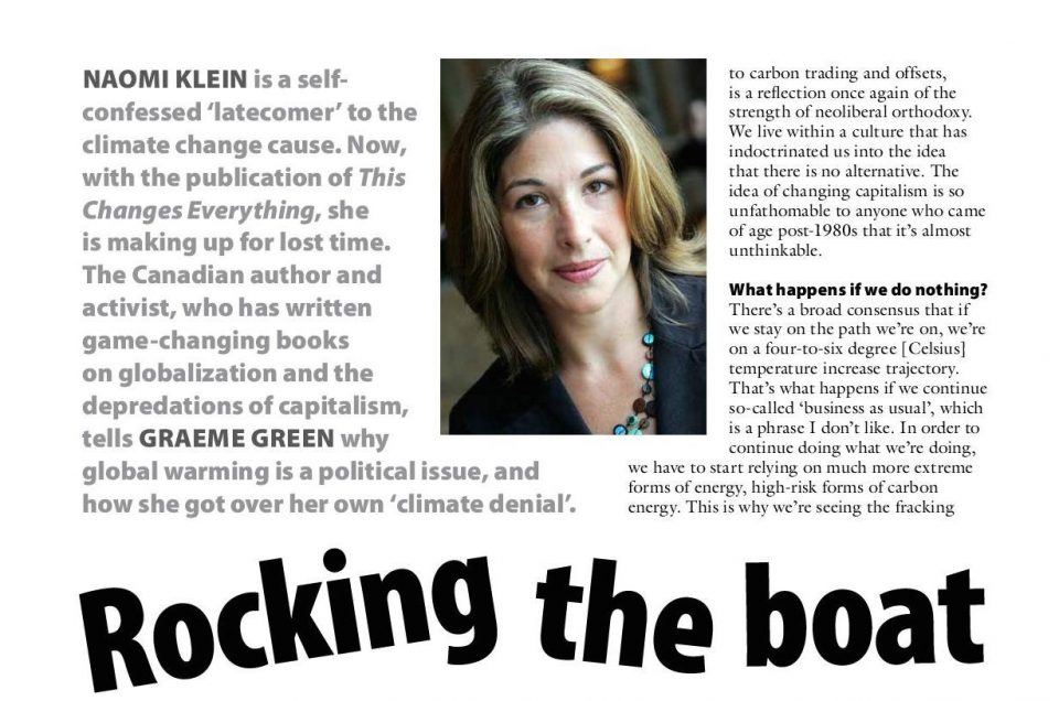 Naomi Klein - Rocking the boat
